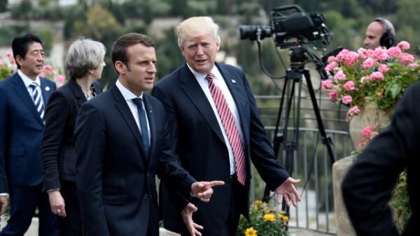 Macron y Trump se enfrentaron.