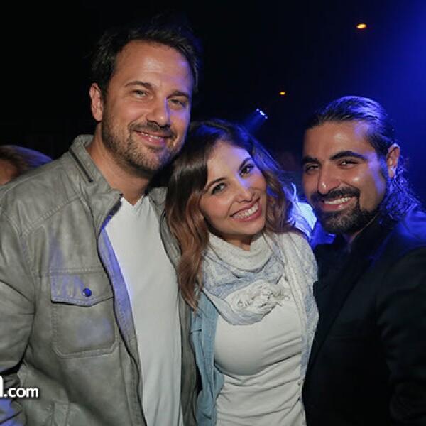 Pablo Calazo, Gloria Aura y Sergio Gabriel.