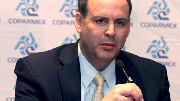 Gustavo de Hoyos Walther, presidente nacional de la Confederación Patronal de la República Mexicana (Coparmex).