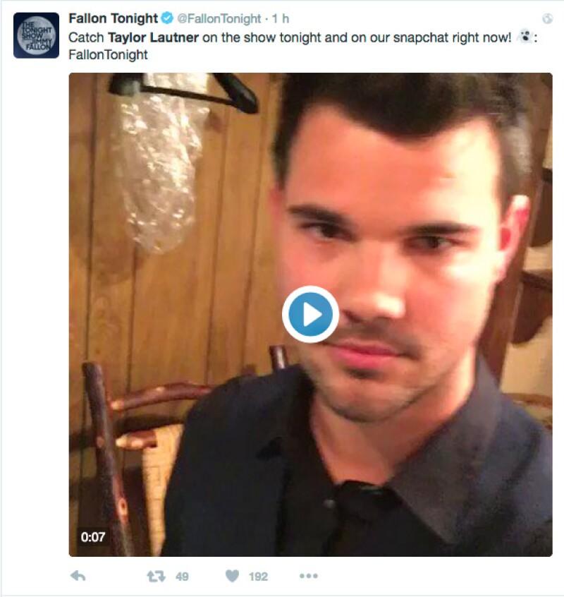 En el snapchat de Fallon, Taylor no se con sobrepeso.