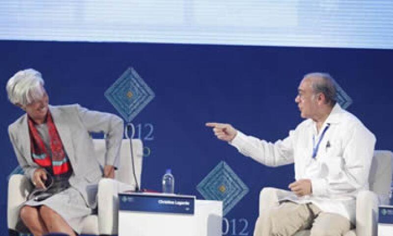 Los ponentes del panel en que participó Lagarde se concentraron en los problemas económicos de Europa, mientras que se siguió con atención el proceso electoral de Grecia. (Foto: Dayan Jiménez)