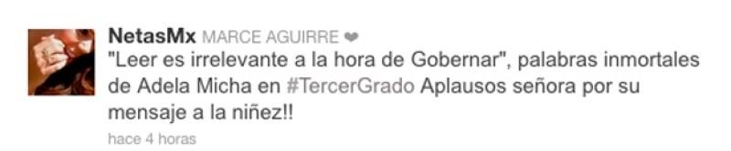 La periodista fue severamente criticada por la comunidad tuitera, después de que realizara un comentario muy polémico en el programa 'Tercer Grado&#39, sobre la equivocación de Peña Nieto.