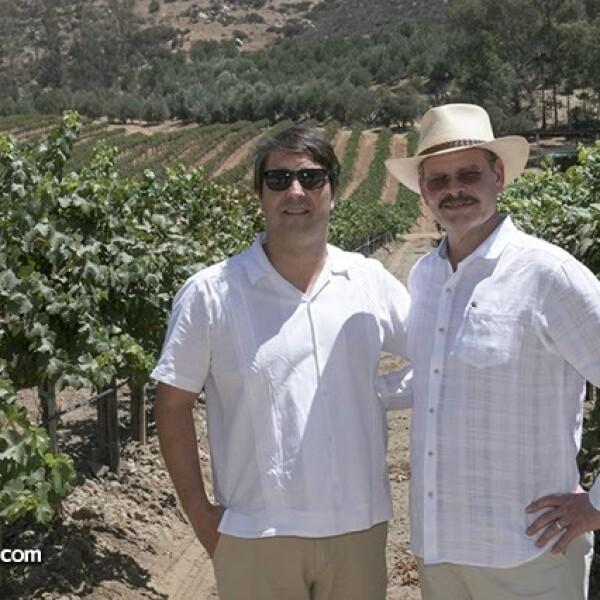 Enologo Sebastian Suárez y Luis Cetto