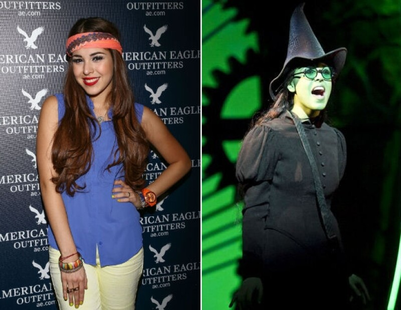 """Danna Paola lleva un año caracterizándose como Elphaba para cada función del musical """"Wicked""""."""