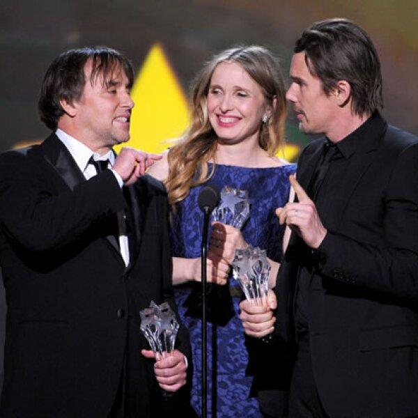 El director Richard Linklater, Julie Delpy e Ethan Hawke.