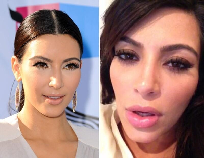 Kardashian subió un video a su cuenta de Keek, donde les dijo a sus fans que estaba aburrida y con mucho sueño. El clip no tiene mucho contenido, pero lo que sobresale son sus labios.