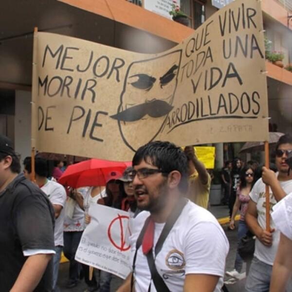 xalapa marcha del 22 de julio, yosoy132