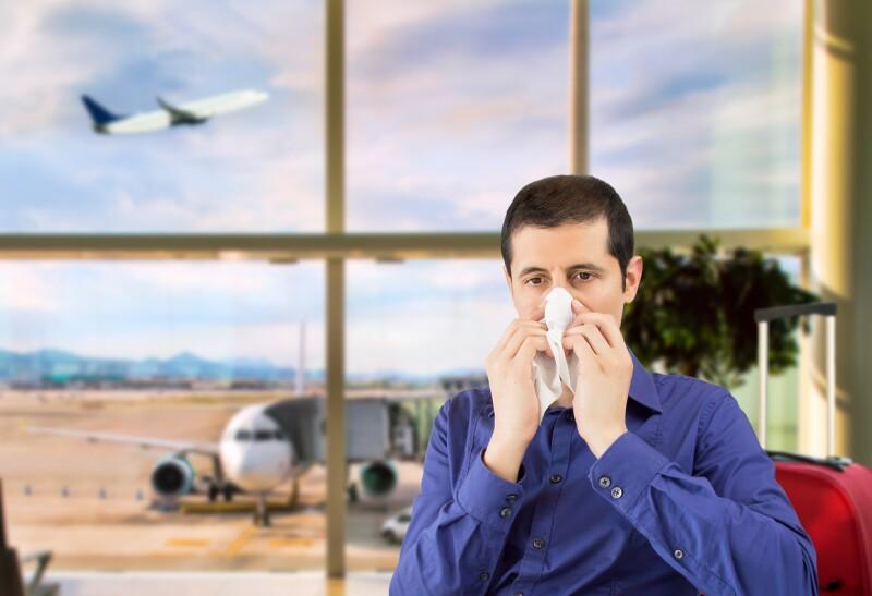 enfermo avión