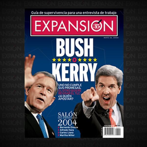 George W. Bush y John Kerry se enfilaban hacia la elección presidencial más dividida en Estados Unidos. Luego de los atentados del 11-S y en la guerra en Irak, México pasó a segundo plano para el país del norte.