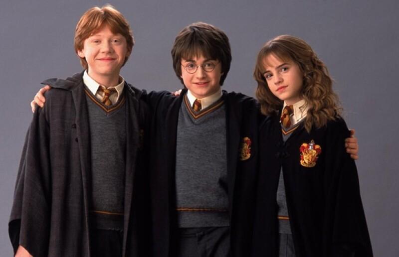 Así se veían Ron Weasley, Harry Potter y Hermione Granger en la segunda película.