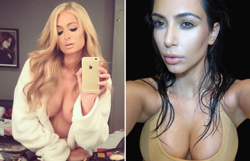 Tanto Paris como Kim han demostrado que gustan de revelar sus atributos en las selfies que comparten en Instagram.