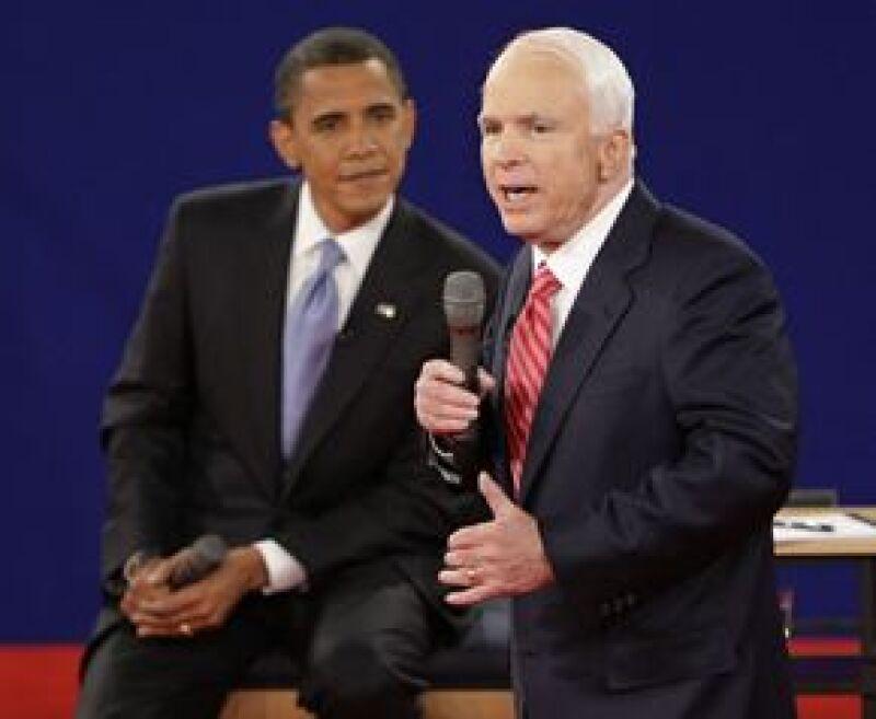 En las encuestas realizadas después del encuentro, los resultados fueron favorables para el candidato demócrata, Barack Obama.