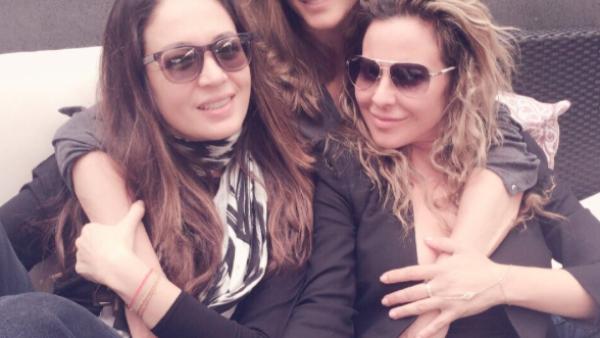 Montserrat, Yolanda y Kate se demostraron el cariño que se tienen desde hace años.