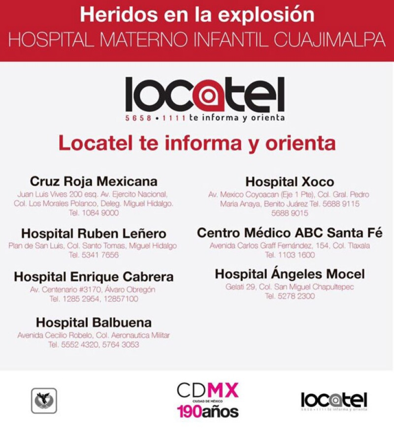 Esta es la lista de hospitales a los que puedes acudir para donar sangre a los afectados por el accidente.