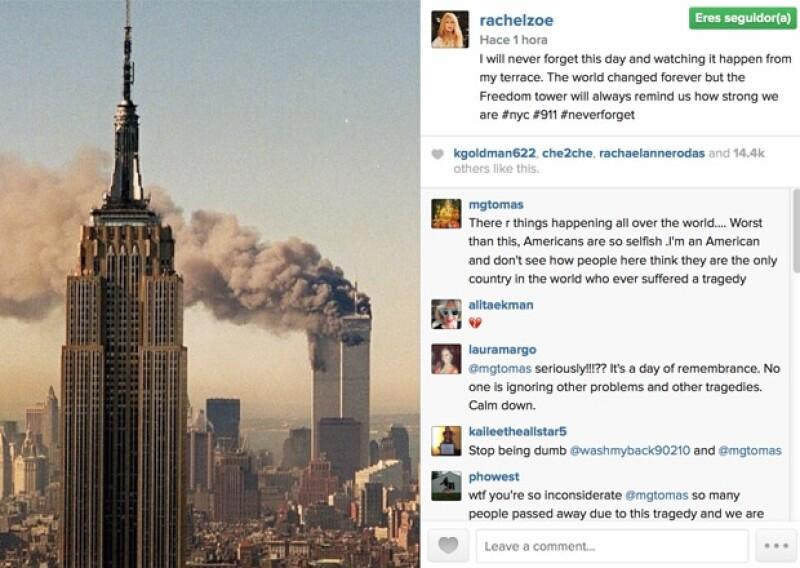 La estilista norteamericana hizo referencia al edificio que construirán en el lugar de los atentados.