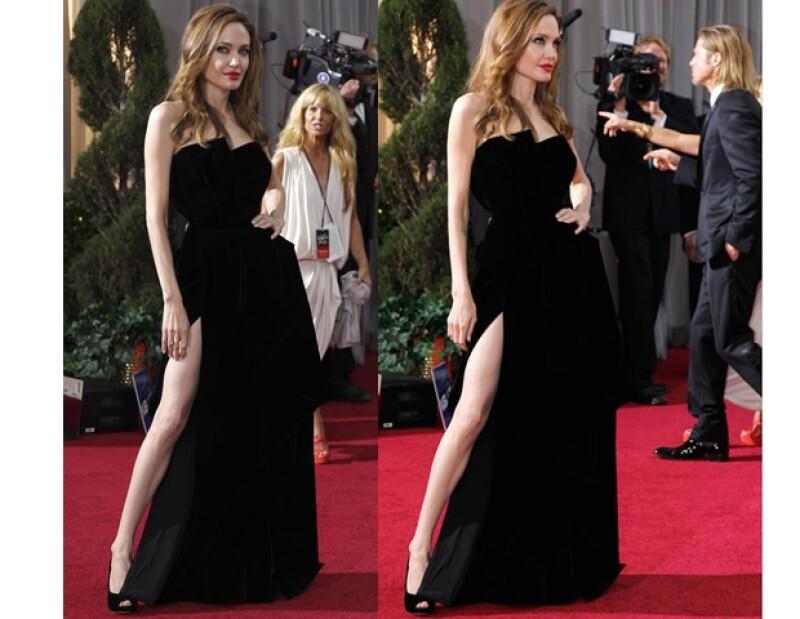 Angelina fue una de las más sexys de la noche.