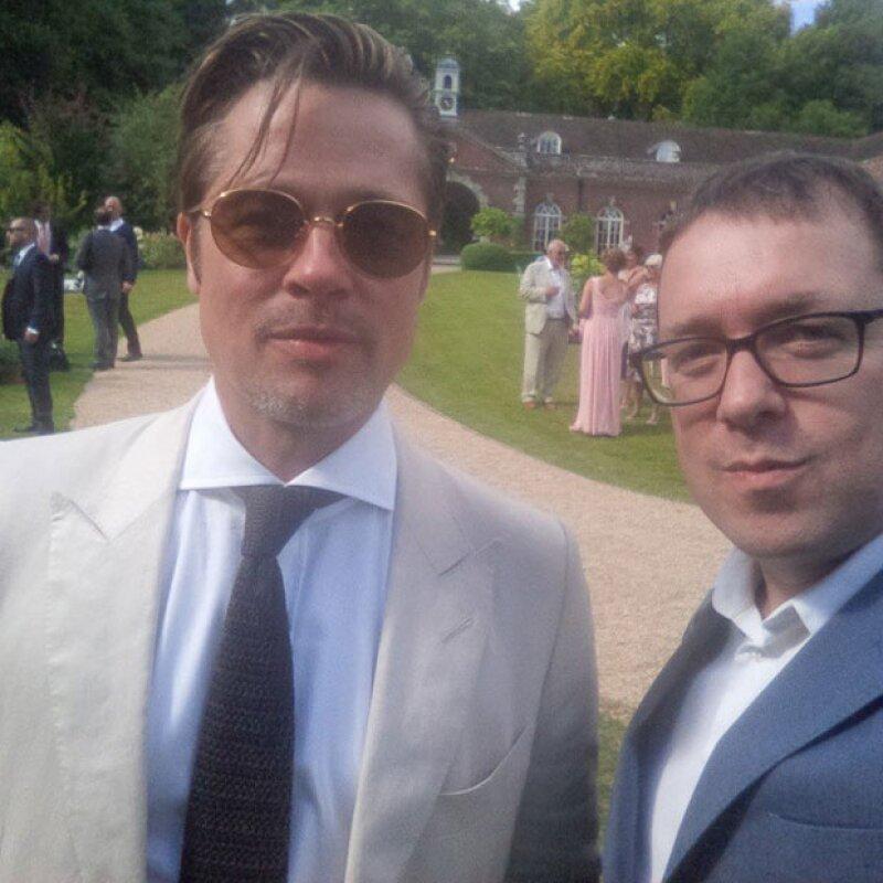 El par de famosos logró quitar el spotlight al director y ex esposo de Madonna, Guy Ritchie, el día de su boda.