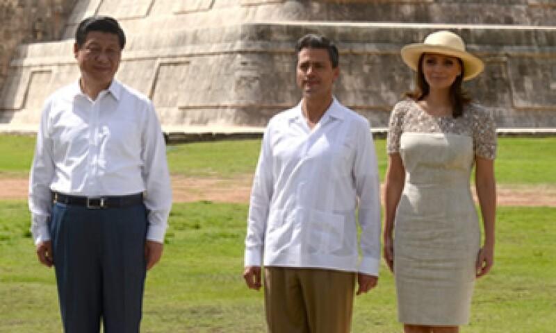El mandatario recorrió la zona arqueológica de Chichén Itzá con su homólogo Xi Jinping. (Foto: Notimex)