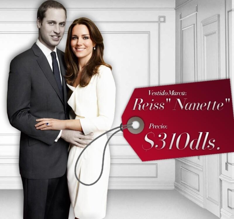 El vestido Reiss fue el elegido para una de las fotos oficiales tomadas por Mario Testino.
