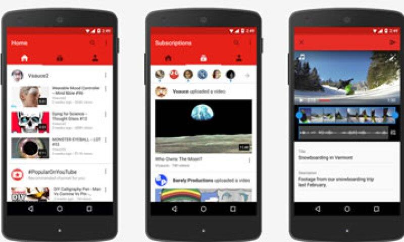 La plataforma móvil ha resultado ser un éxito para YouTube. (Foto: YouTube)