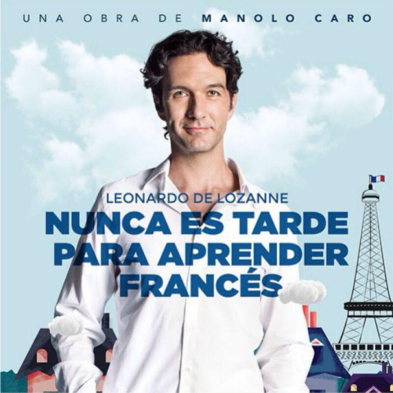 Leonardo de Lozanne debuta en teatro al lado de su esposa.