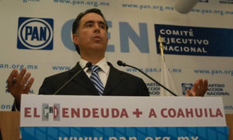 El senador del PAN Guillermo Anaya ha criticado el endeudamiento del Gobierno de Coahuila.  (Foto: Notimex)