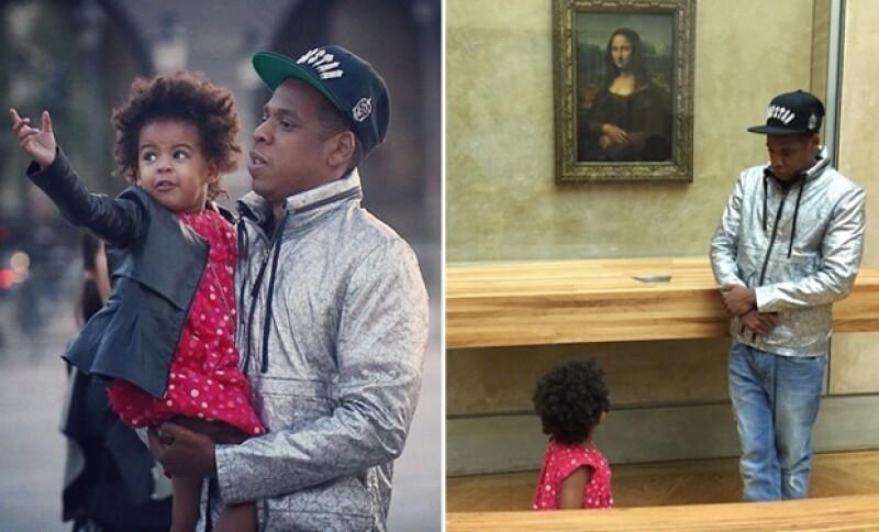 Jay Z también compartió en su Instagram sus momentos papá e hija con Blue Ivy.