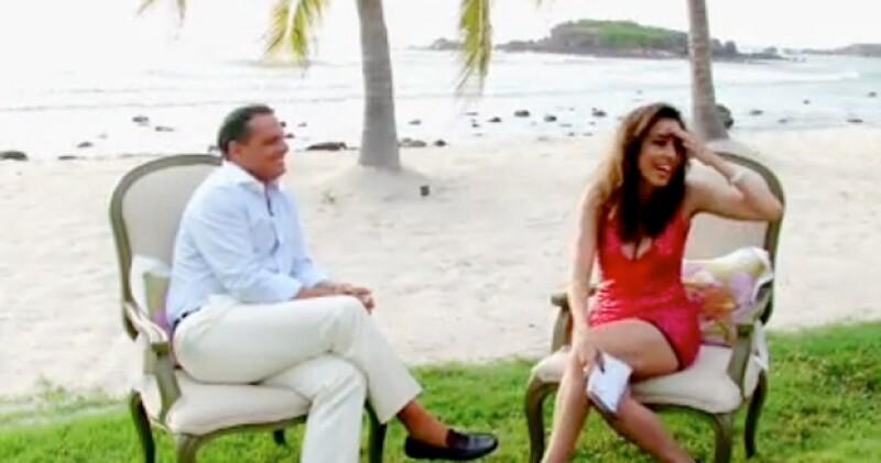 Luis Miguel durante la entrevista con Roxy Vázquez.