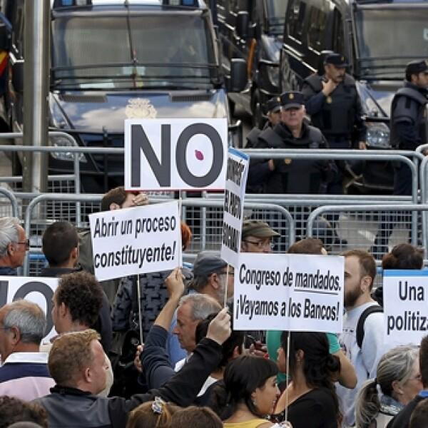 EFE- españa, segundo día de protestas- 26S