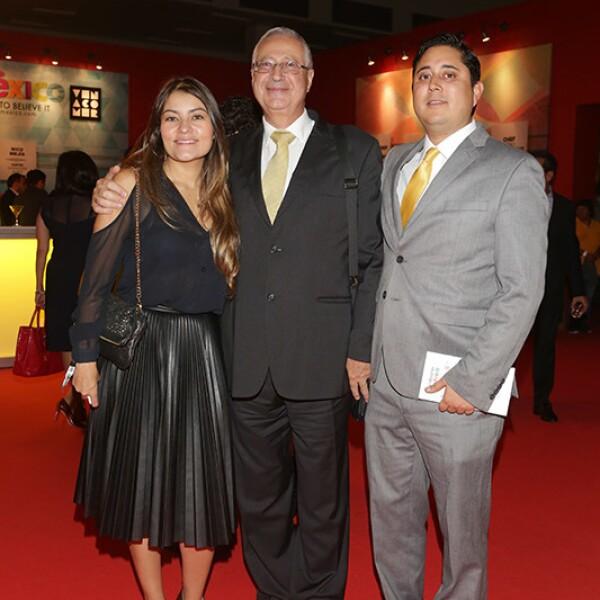 Ana Camarena, David Amoir y Jorge Enriquez