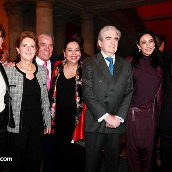 Mercedes García Ocejo,María Cristina Cepeda,Juan Antonio Hernández,Carmen Gaytán,Rafael Tovar y de Teresa,María Laura y Ricardo Salinas
