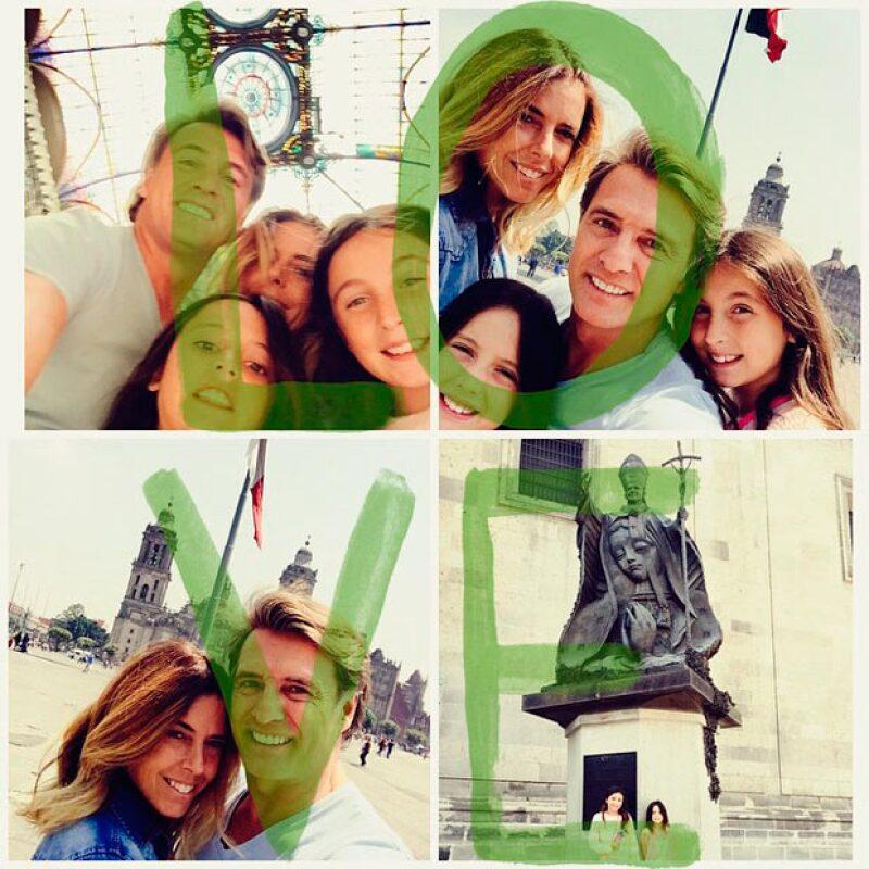 Hace unos días, la pareja vino a México para pasar unos días en la ciudad en compañía de sus dos hijas.