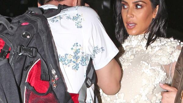 Kim Kardashian choca contra un hombre en Mr Chow