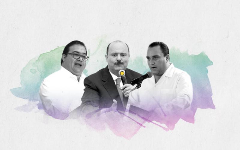 Los priistas Javier Duarte, de Veracruz; César Duarte, de Chihuahua, y Roberto Borge, de Quintana Roo, deberán entregar la administración estatal a la oposición.