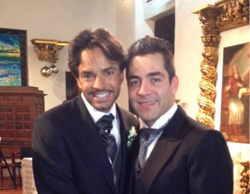 Omar Chaparro fue el padrino de velación de la boda religiosa de Eugenio y Alessandra.