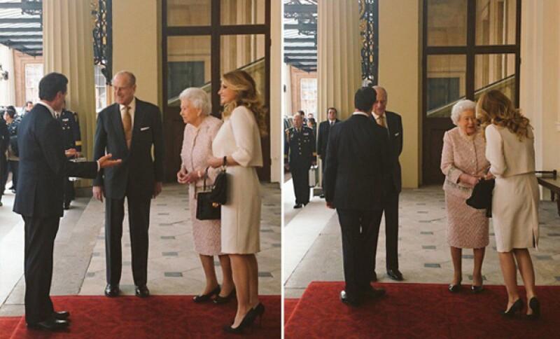 Estas fueron las fotografías que publicó el sitio oficial del palacio real.