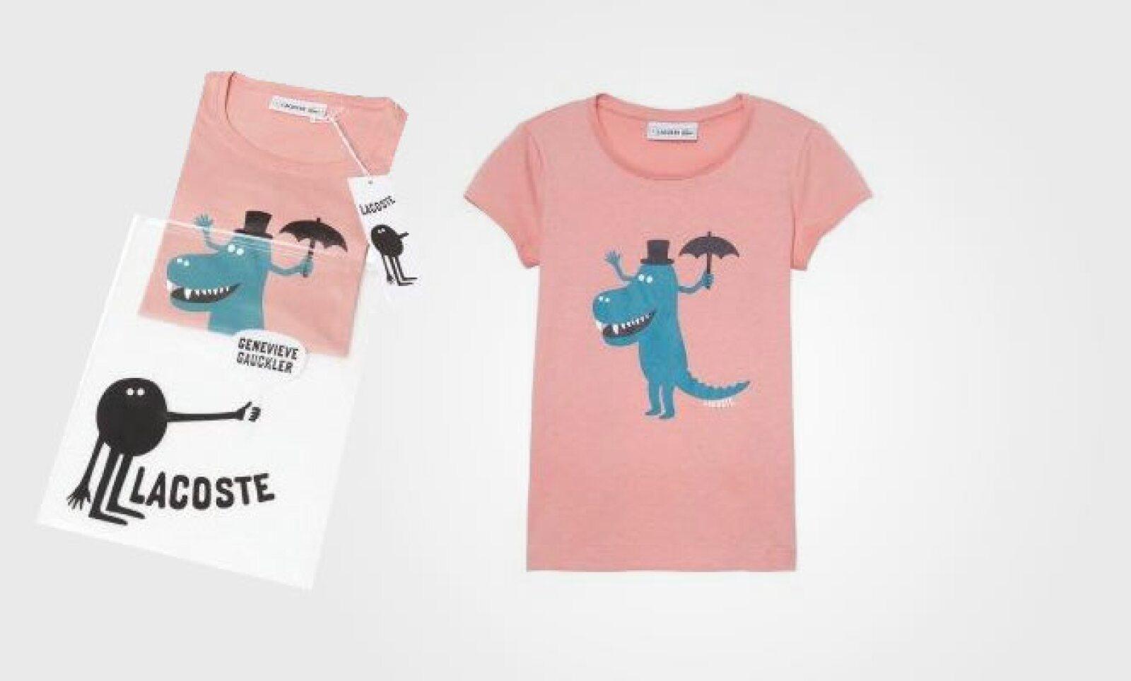 De esta colección provienen  cuatro  camisetas para niños en colores azul, gris, blanco y verde y tres para niñas en rosa, blanco y rojo.