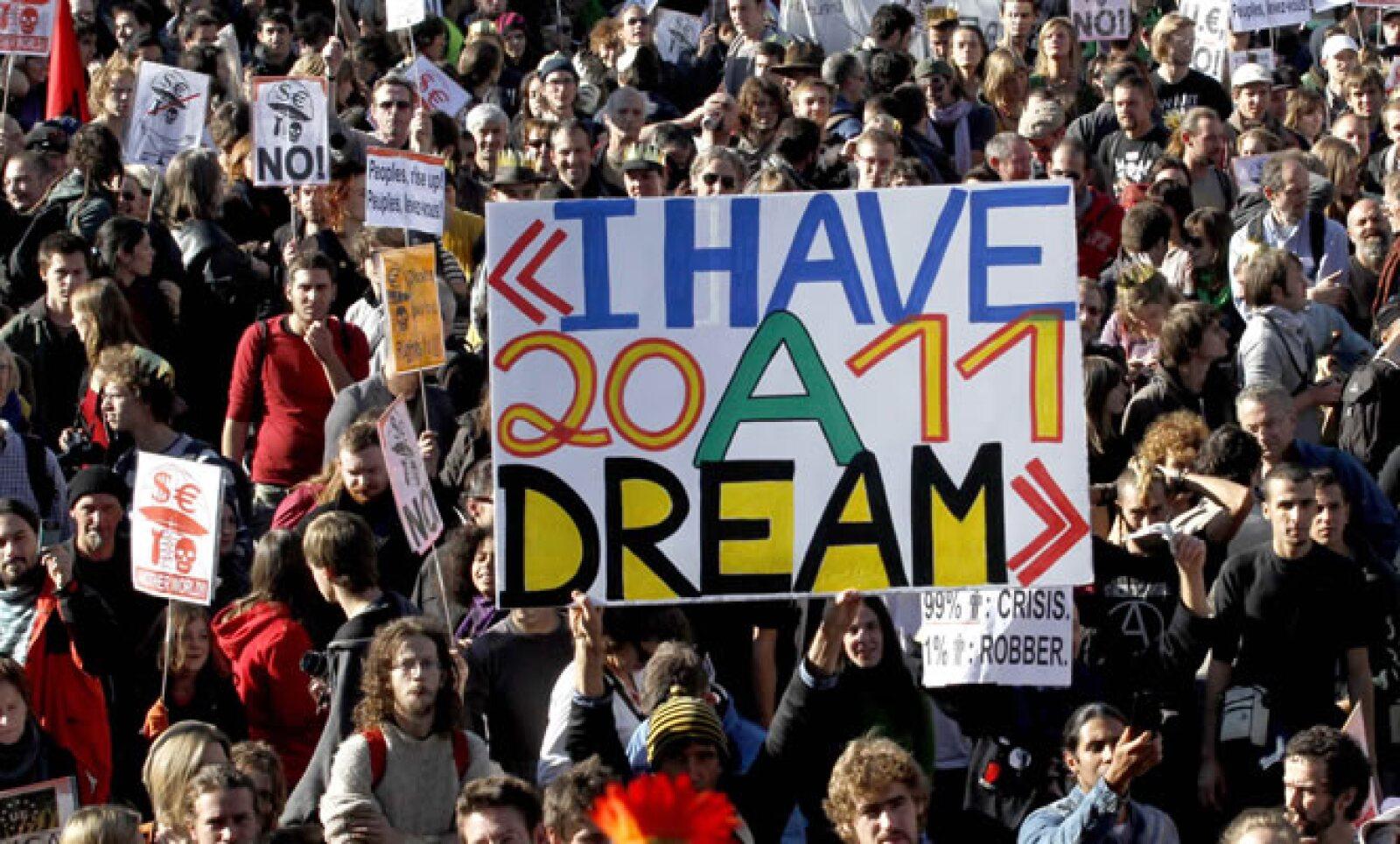 En Bélgica cientos de personas salieron a las calles para sumarse al movimiento nacido en Nueva York.