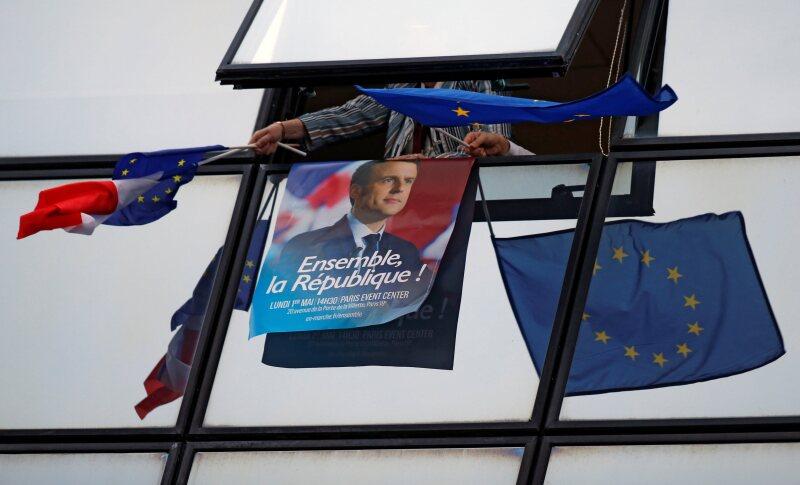 Macron Euro UE