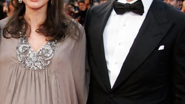 La pareja se casó después de una relación de nueve años.