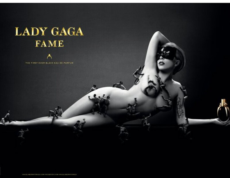 A través de Twitter, la cantante publicó la imagen promocional de su perfume `Fame´; la intérprete fue fotografiada por Steven Klein.