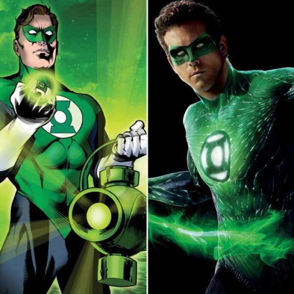 Muy guapo, Ryan Reynolds dio vida a Linterna Verde, cómic de Marvel.