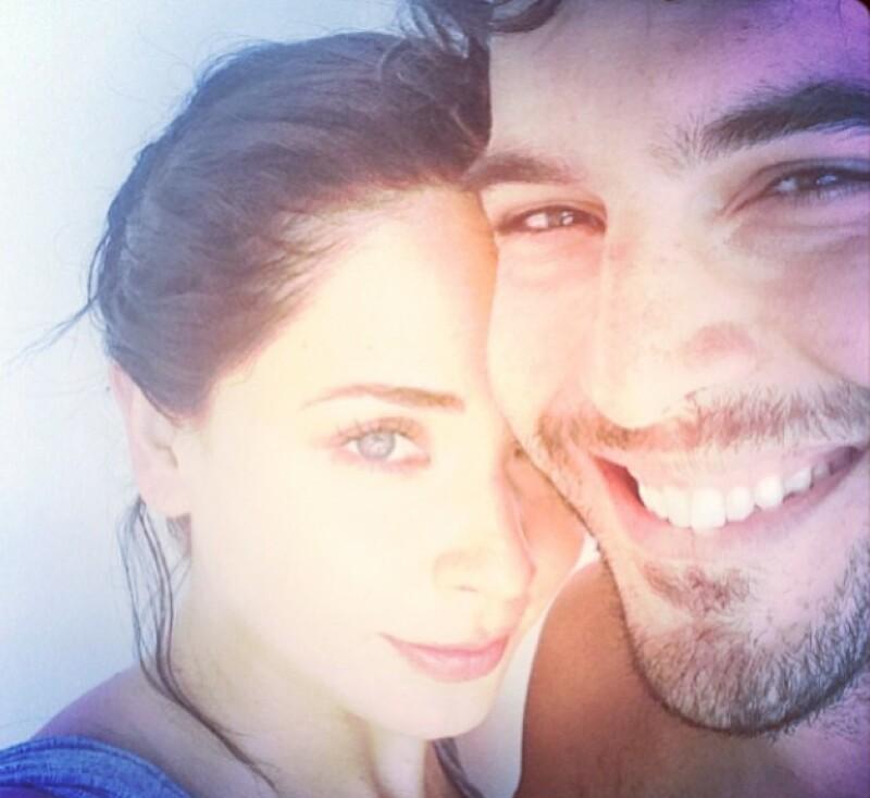 Adriana y su novio Carlos Salas en sus recientes vacaciones en Brasil.