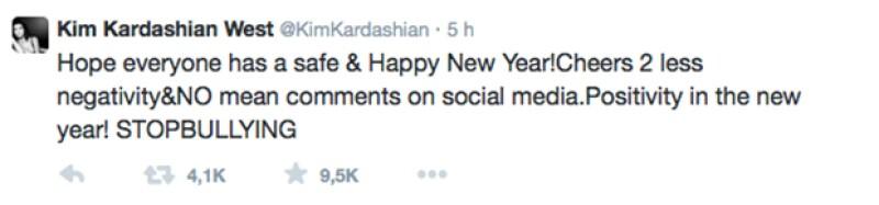 Kim Kardashian optó por transmitir un mensaje enfocado a detener el bullying en las redes sociales.