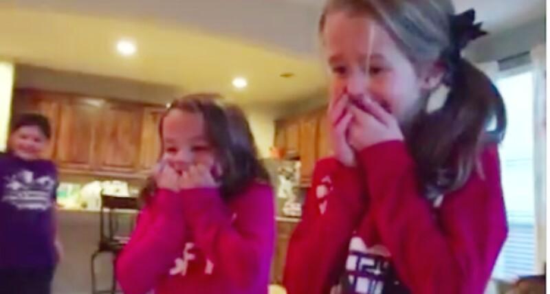 Así reaccionaron las tres hijas de la pareja.