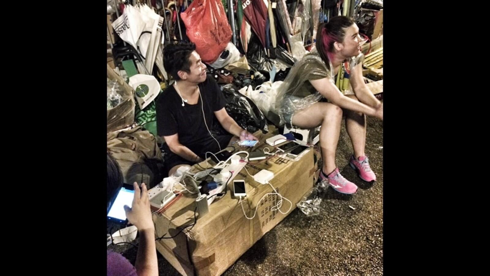 Hong Kong enchufes protestas conexion