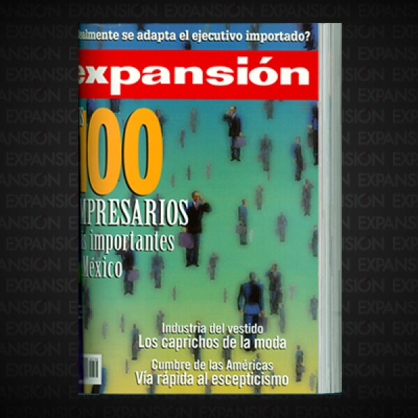 El ranking ya toma el nombre que lleva hasta hoy: Los 100 empresarios más importantes de México. Carlos Slim corona el listado.