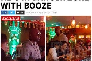 TMZ captó a Lamar de fiesta en un bar.