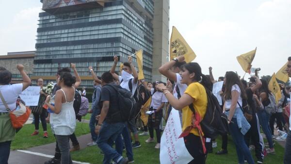 Marcha CU UNAM estudiantes