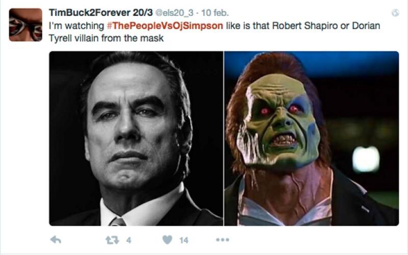 Incluso lo llegaron a comparar con el villano de The Mask, cinta protagonizada por Jim Carrey y Cameron Diaz.